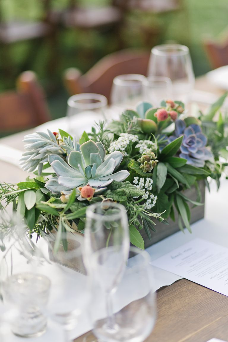 Best greenery wedding centerpieces green