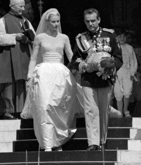 wedding of prince rainier and grace kelly in 1956