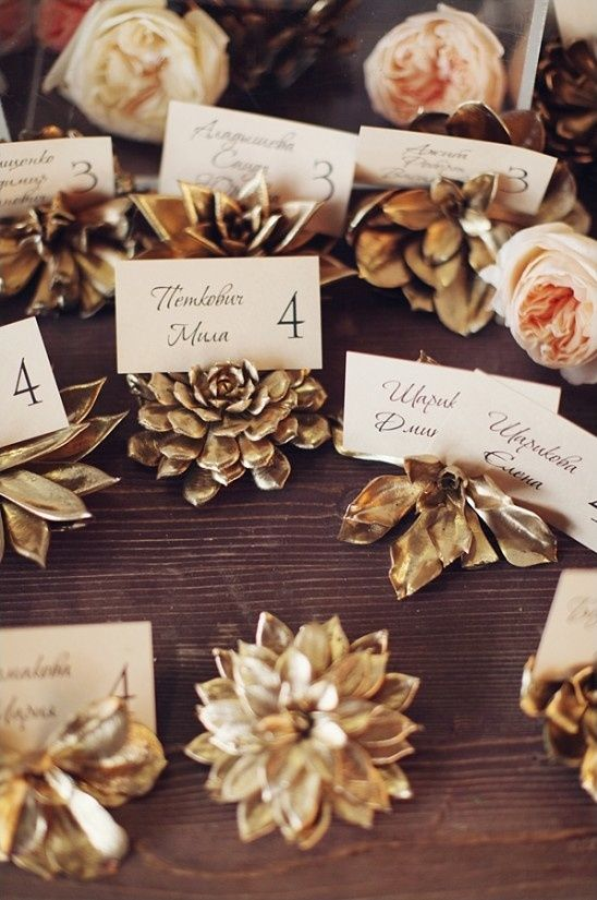 fall wedding place card holders. fall wedding place card holders a