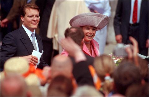 wedding prince constantin of netherlands with miss laurentiene brinkhorst on may 17th, 2001, netherlands