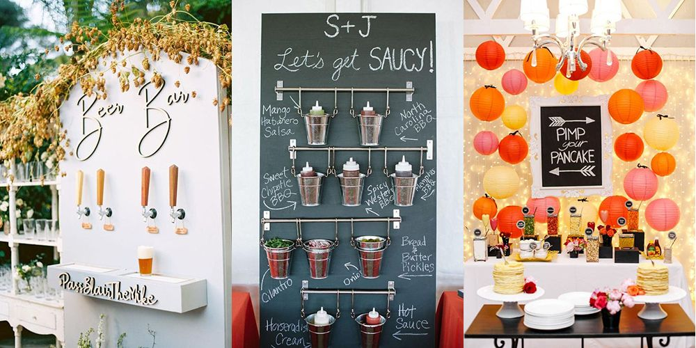 Wedding Reception Ideas For People That LOVE Food And Drink