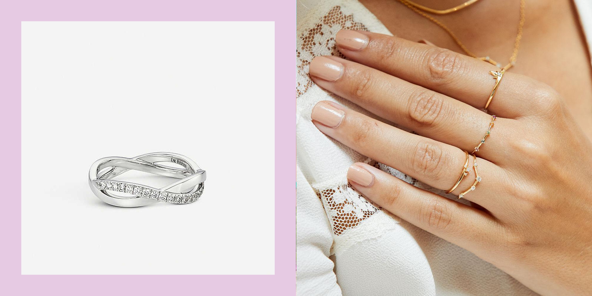 Beautiful wedding rings for brides-to-be