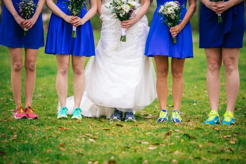 Clothing, Footwear, Blue, Dress, Event, Photograph, People in nature, Electric blue, Fashion accessory, Ceremony,