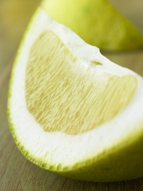 wedge of pomelo
