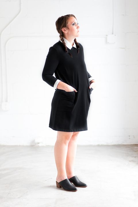 wednesday addams easy halloween costume for adults