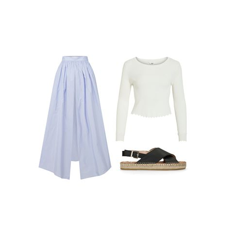 White, Clothing, Footwear, Violet, Dress, Sleeve, Outerwear, Shoe, Denim, Beige,