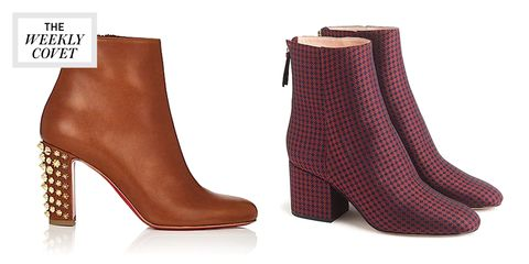 Footwear, Boot, High heels, Shoe, Brown, Leg, Beige, Leather,
