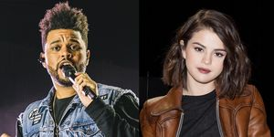 Selena Gomez spotted at The Weeknd's gig