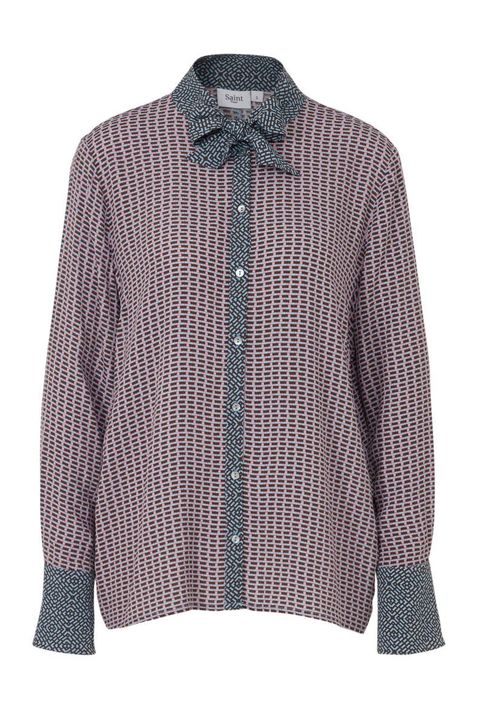 Clothing, Outerwear, Sleeve, Collar, Blouse, Shirt, Pattern, Top, Design, Neck,