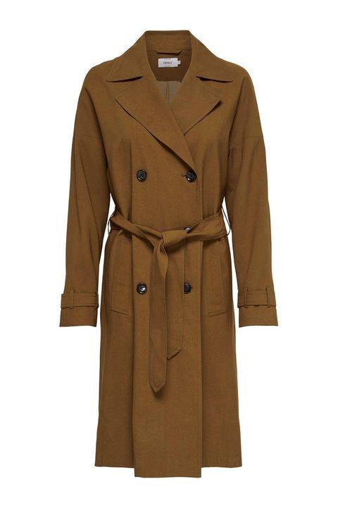Clothing, Coat, Trench coat, Overcoat, Outerwear, Tan, Sleeve, Khaki, Duster, Beige,