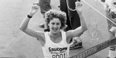 Lisa Rainsberger winning the 1985 Boston Marathon
