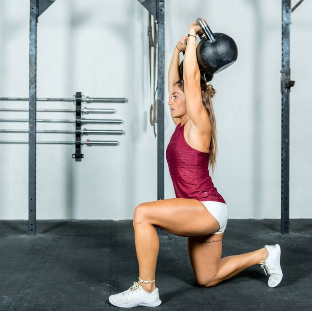 weight training and kettlebell
