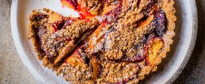 weight watchers desserts plum crumble tart