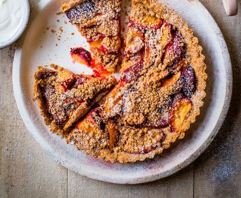 weight watchers desserts plum crumble tart