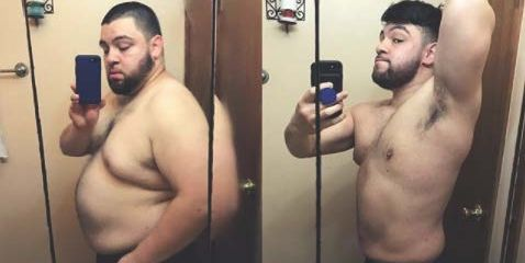 weight loss man has 110 pound weight loss transformation after