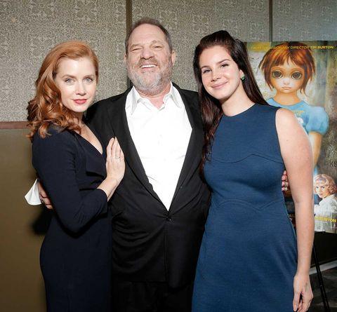 Harvey Weinstein con Amy Adams y Lana del Rey