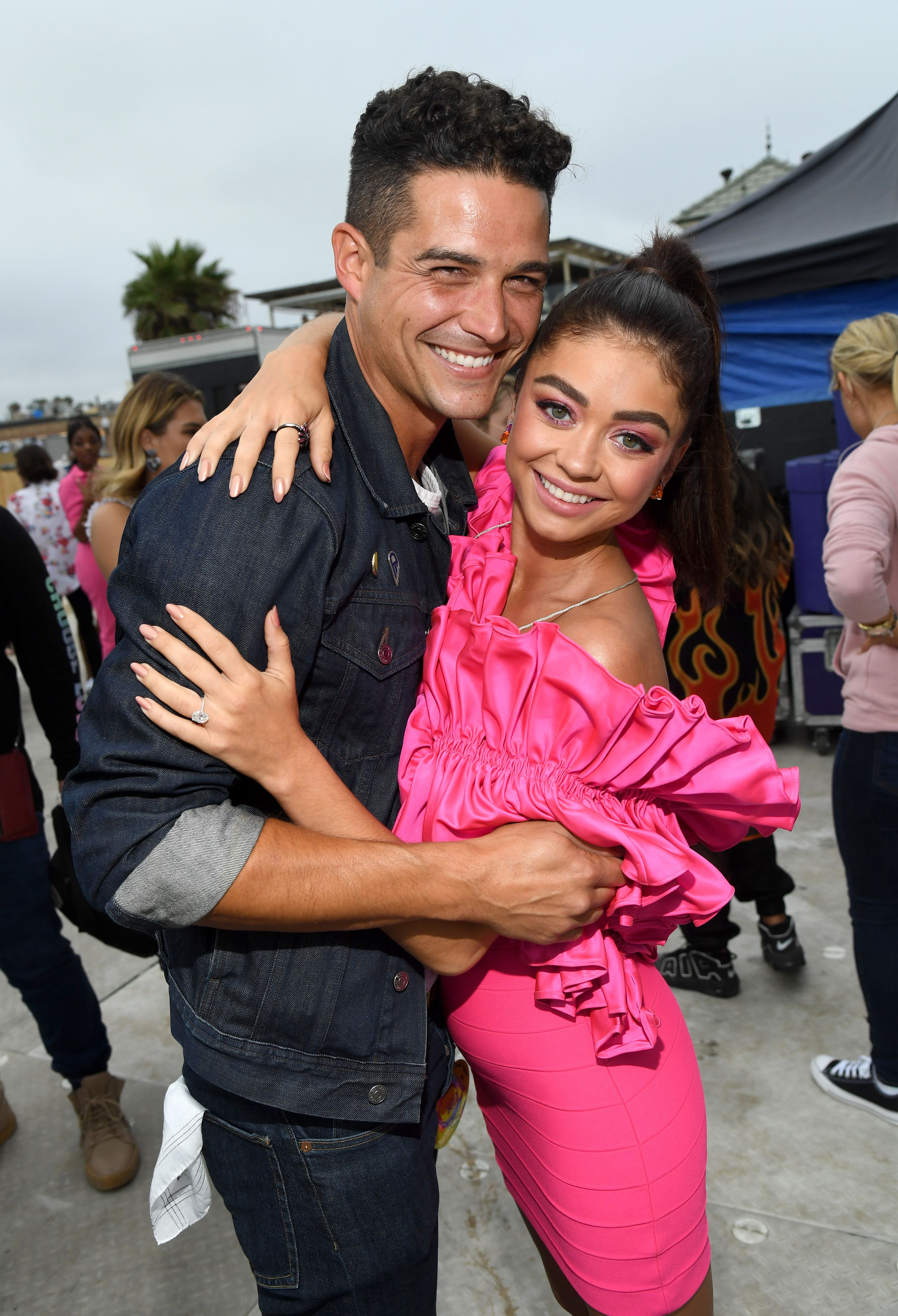 Sarah Hyland And Fiancé Wells Adams Are All About The PDA