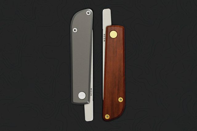two closed pocket knives next to each other