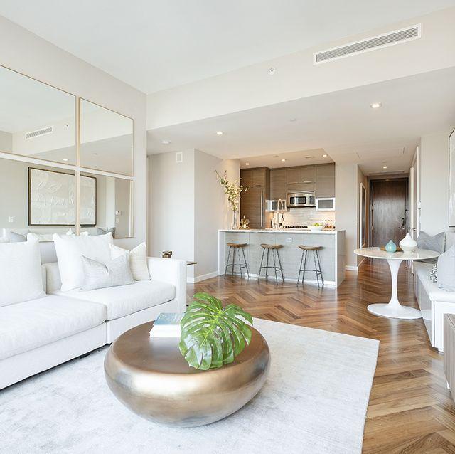Living room, Property, Interior design, Room, Furniture, Building, House, Real estate, Floor, Table,