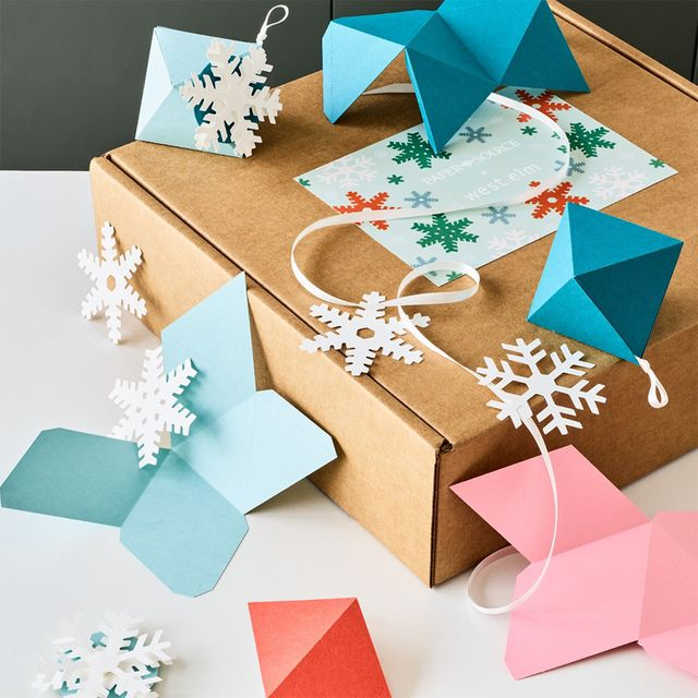 west elm x paper source home for the holidays diy craft box