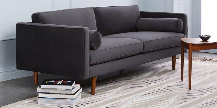 Get West Elm S Mid Century Modern Monroe Sofa Look For