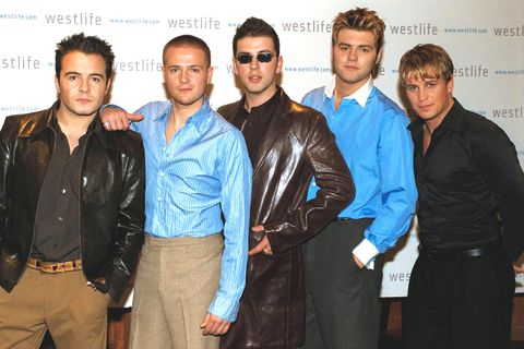 westlife, promoting their new album at the bafta building, london, britain  31 oct 2001