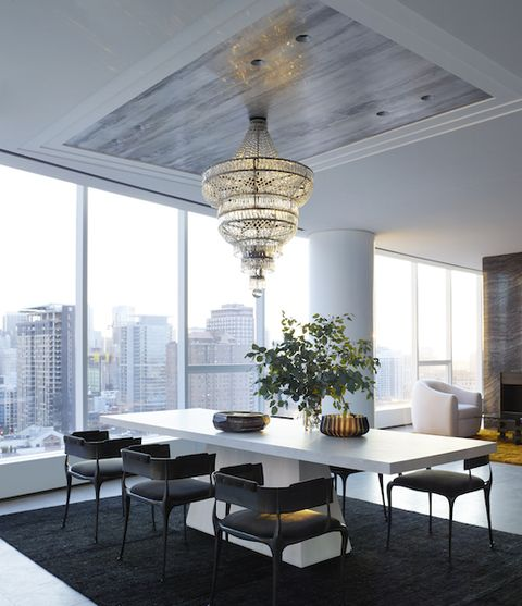 Ceiling, Room, Interior design, Furniture, Property, Building, Table, Lighting, Floor, House,