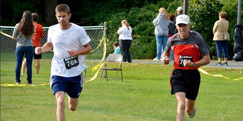 Michael Westphal finishes a 5K
