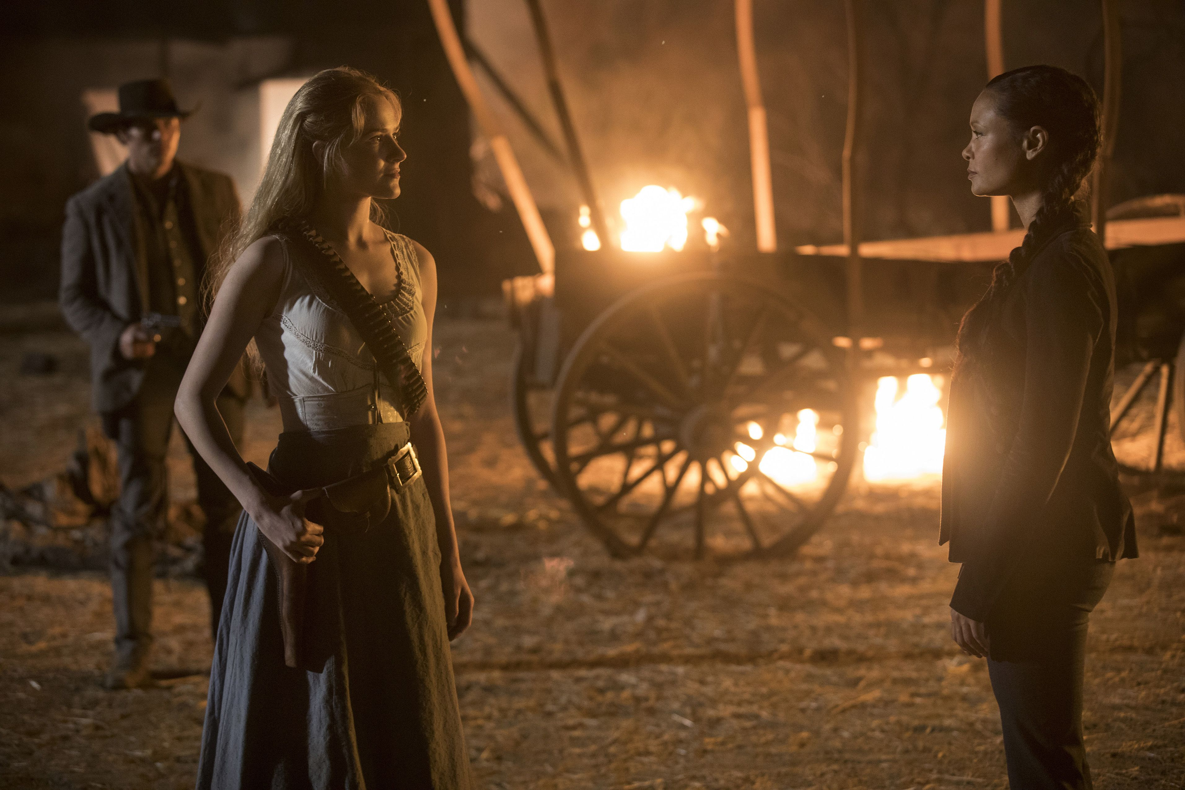 Westworld Thandie Newton and Evan Rachel Wood