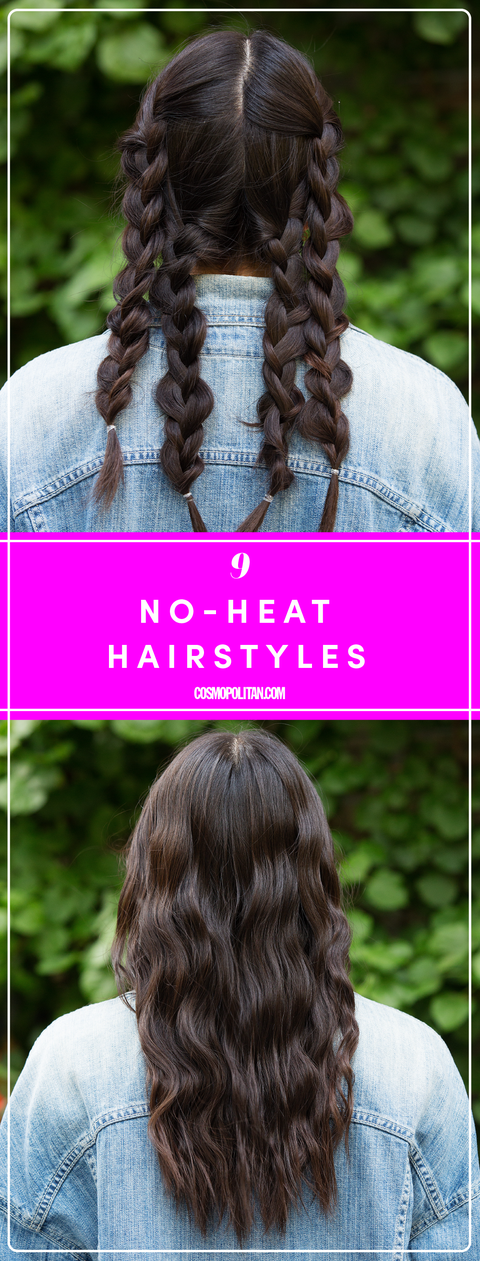 9 Easy No Heat Ways To Style Wet Hair