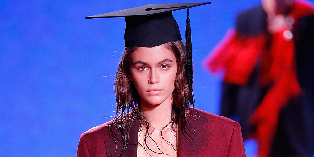 Wet hair trend at Calvin Klein Spring Summer 2019