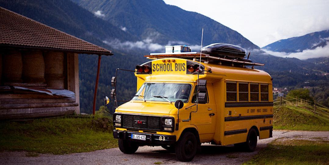 This School Bus Was Converted Into A Tiny Home In Germany