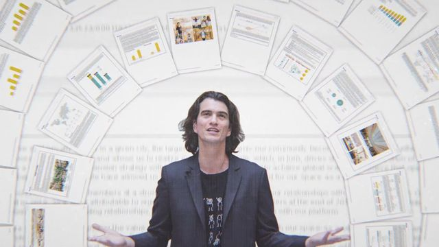 still from wework or the making and breaking of a $47 billion unicorn