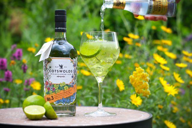 cotswolds distillery wildflower gin green