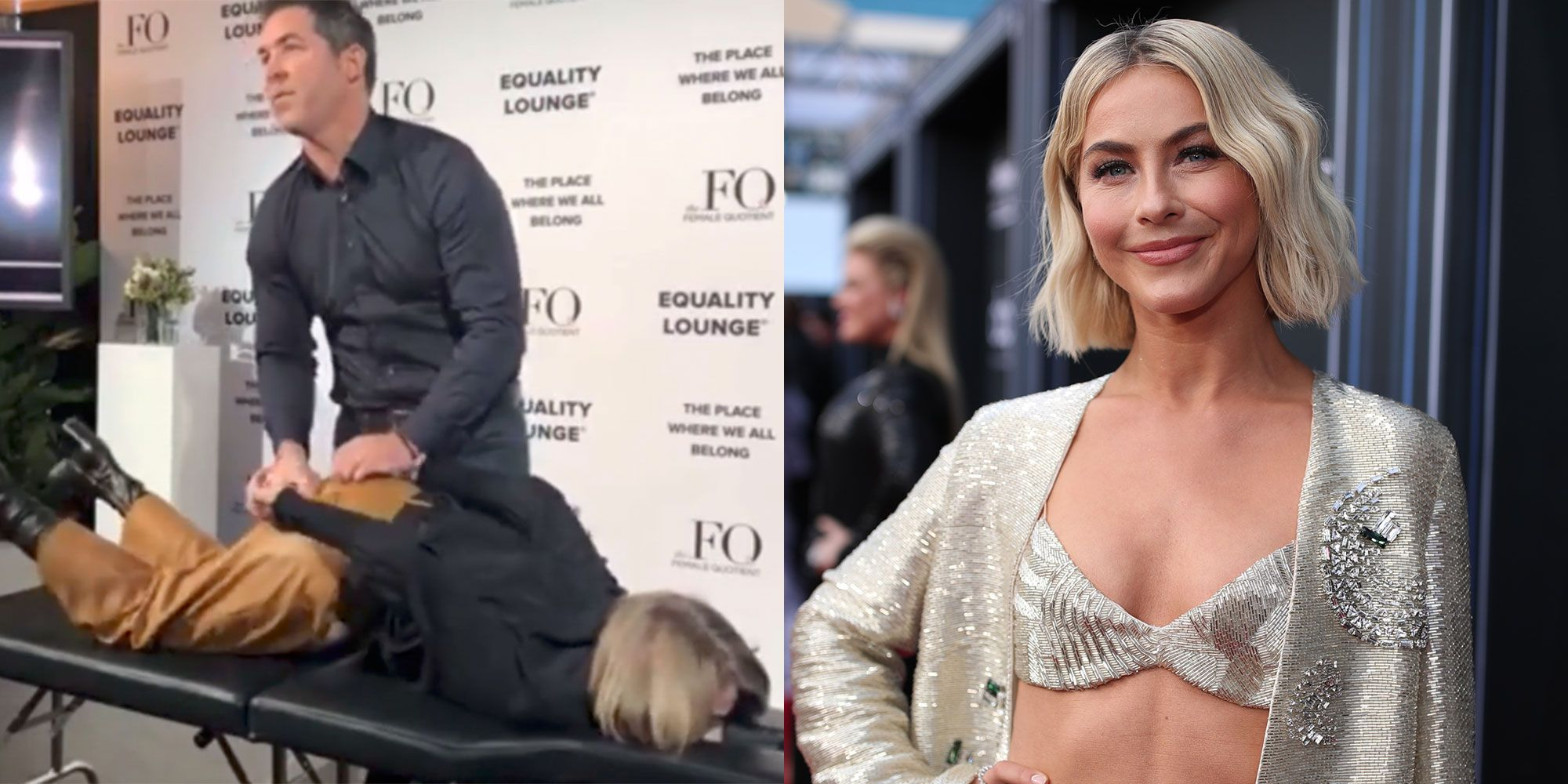 You Can't Unsee This Crazy Video Of Julianne Hough Shrieking During Physical Therapy