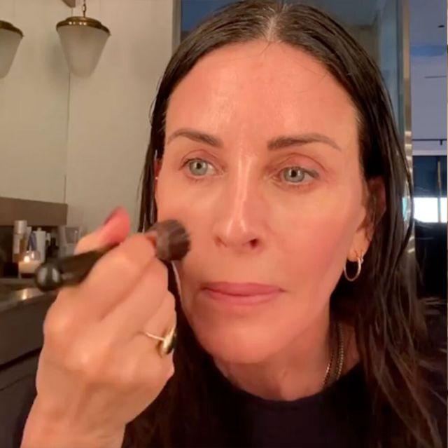 courteney cox makeup routine