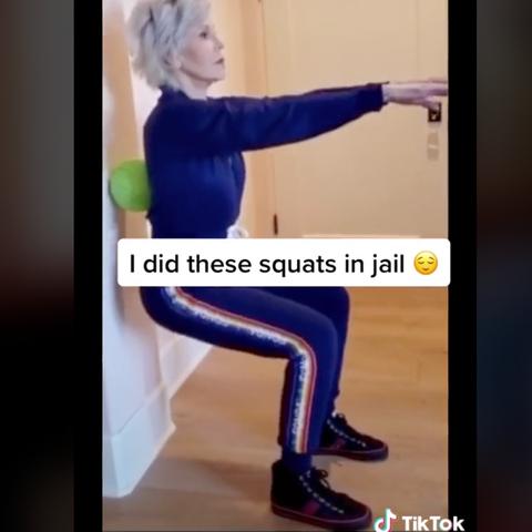 jane fonda tiktok video squats