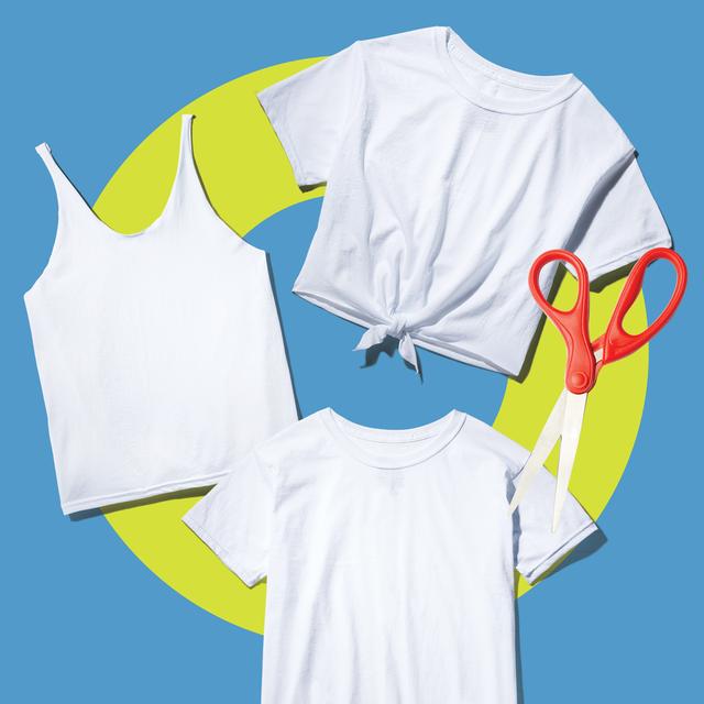 white tshirt cutting