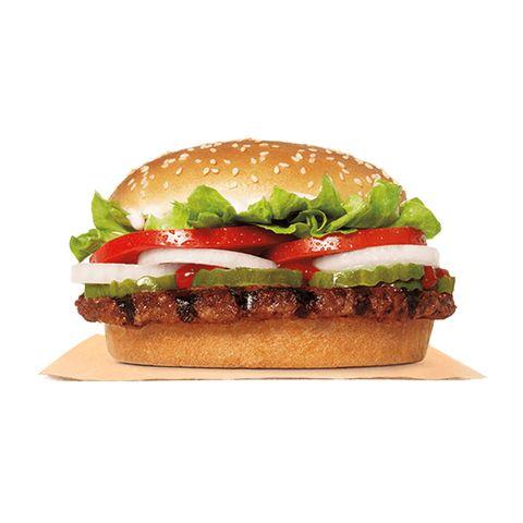burger with bun and seeds