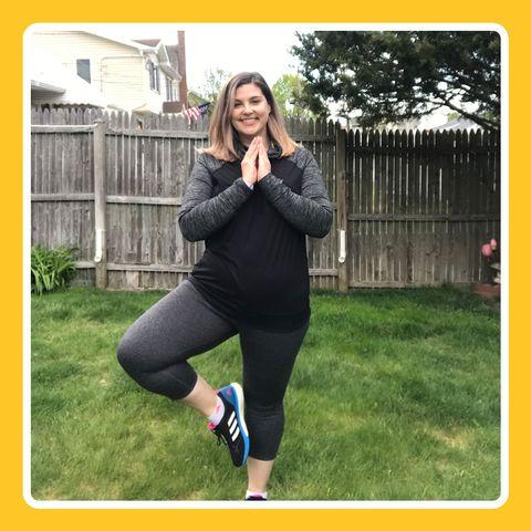 linda luckman doing yoga
