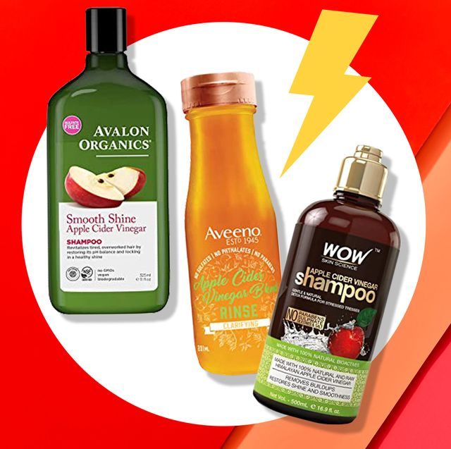 three apple cider vinegar shampoos