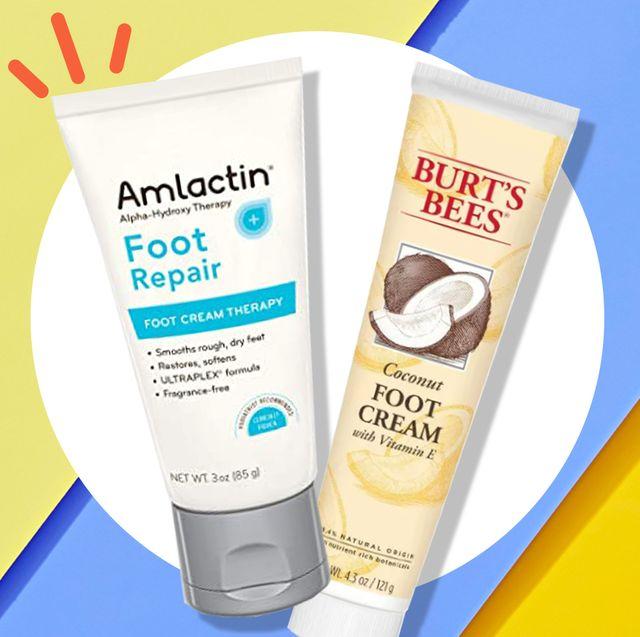 amlactin and burt's bees foot creams