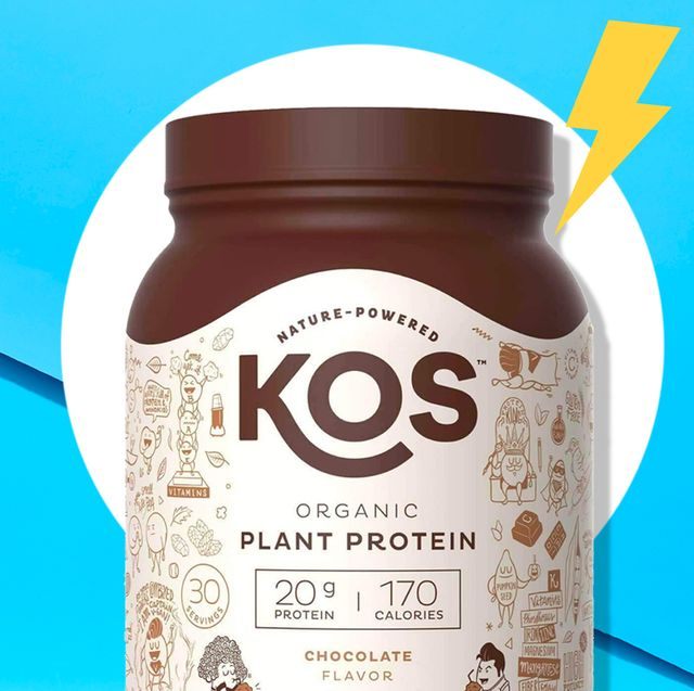 best vegan protein powders on blue background