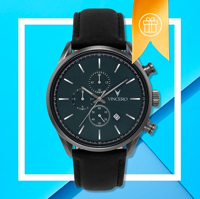 whiskey, a watch, and smart jumprope on blue background