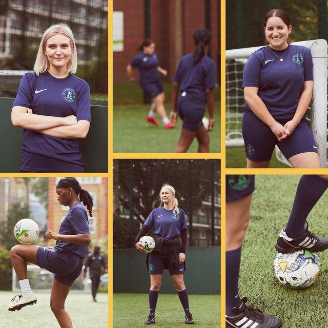 stills of sirens fc, a female football team