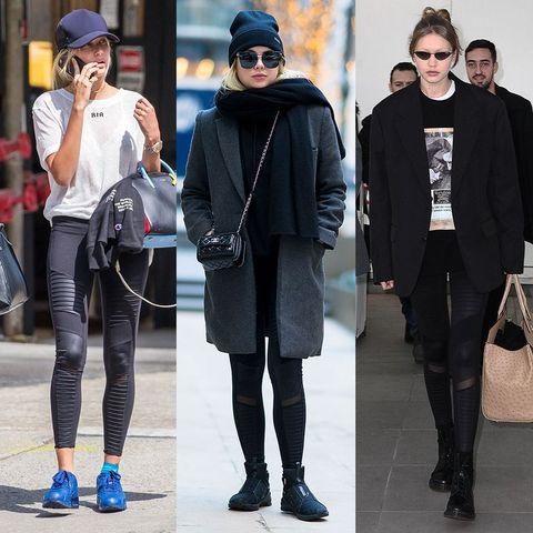 Street fashion, Clothing, Fashion, Beanie, Footwear, Tights, Snapshot, Eyewear, Shoe, Jeans,