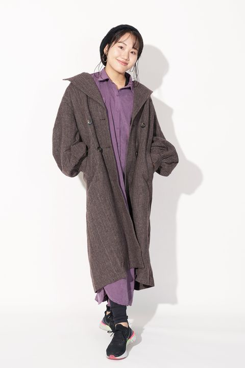 Clothing, Purple, Outerwear, Coat, Hood, Overcoat, Fashion, Jacket, Pink, Sleeve,