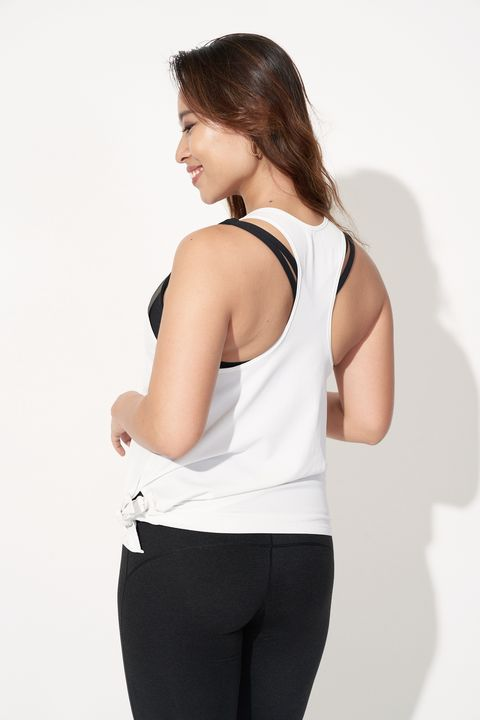 White, Clothing, Shoulder, Sportswear, Arm, Neck, Waist, Joint, Standing, Muscle,