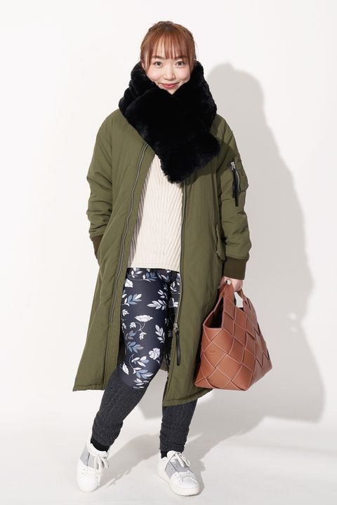 Clothing, Fashion, Green, Coat, Khaki, Outerwear, Standing, Parka, Fashion model, Neck,