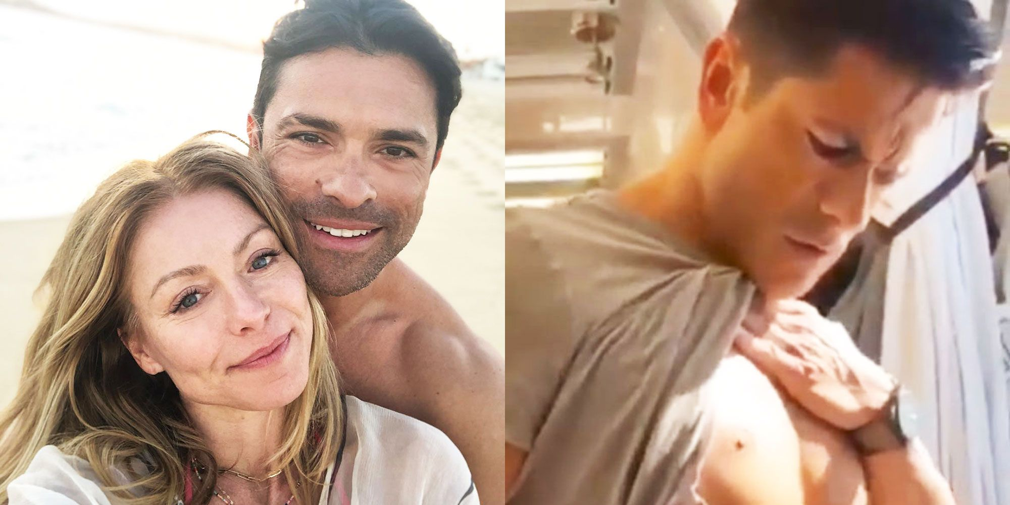 Kelly Ripa Shared A Video Of Marc Consuelos' Abs In An Epic Instagram Thirst Trap